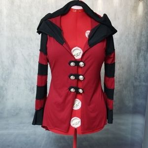 Black and Red Gothic Jacket NWT